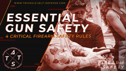 Firearms instructor teaching the firearm safety rules to new students