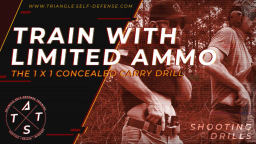 Train with limited ammo and try the 1 x 1 concealed carry drill