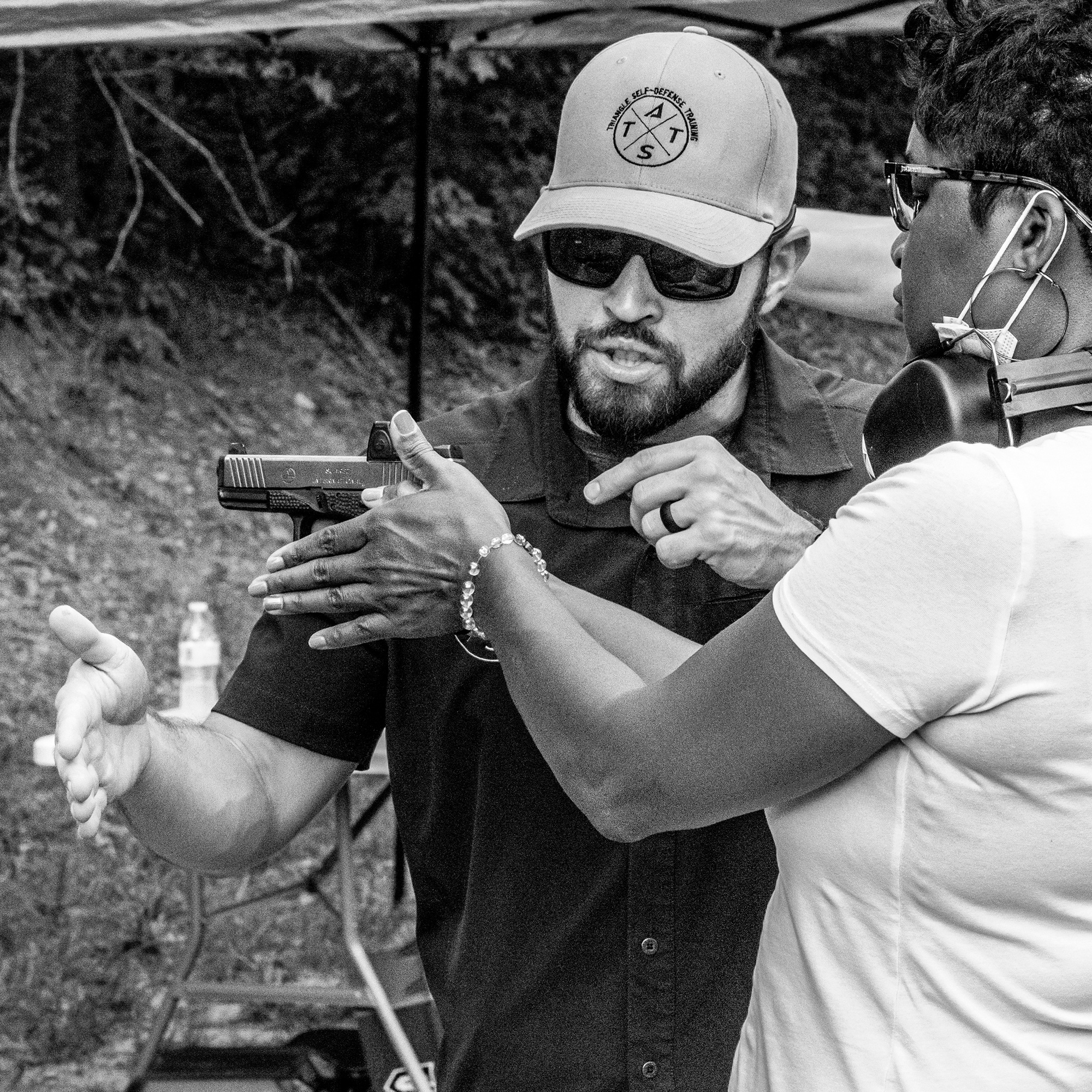 Teaching dry fire to female concealed carry student