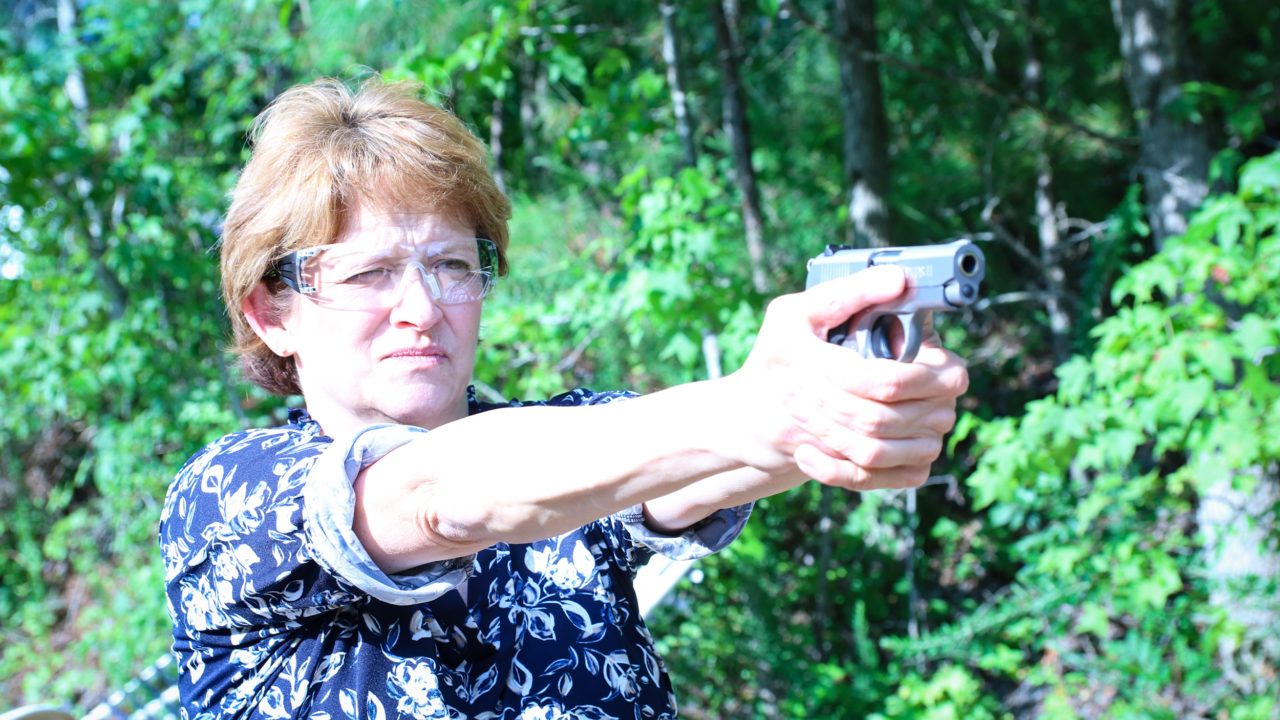 Women learning to shoot better with Self-Defense Training Concealed Carry class