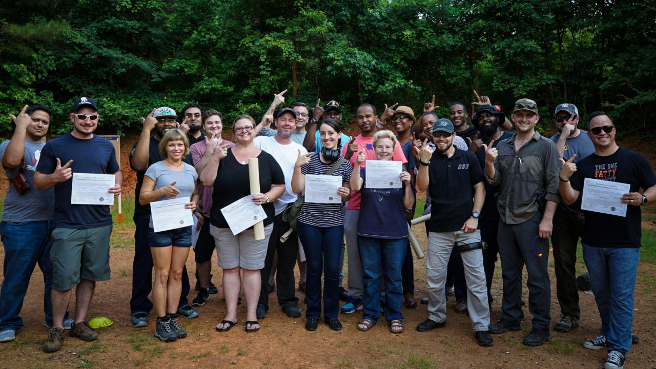 New shooters passing the North Carolina concealed carry class with Triangle Self Defense Training