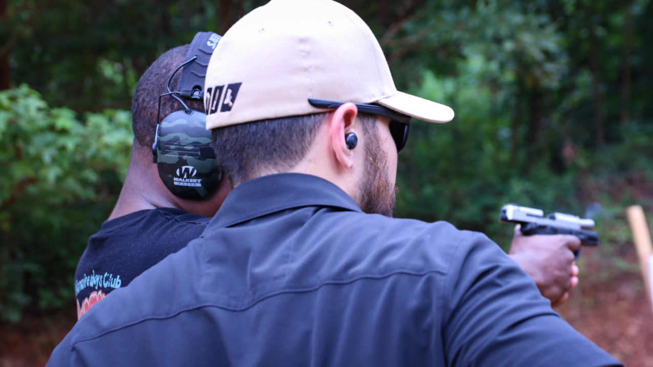 Concealed carry instructors with Triangle Self-Defense Training help students pass the shooting qualification